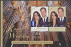 AUS SGMS3590 Royal Wedding Prince William and Catherine Middleton 2011 miniature sheet